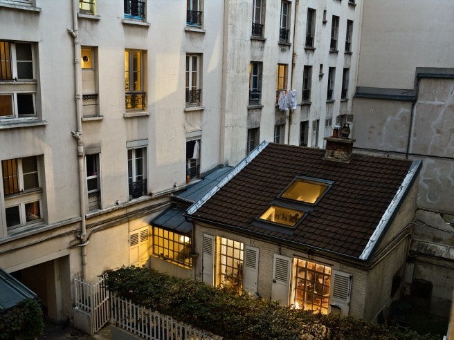 Le 30 octobre 2012, rue de l'Ourcq, Paris-19e